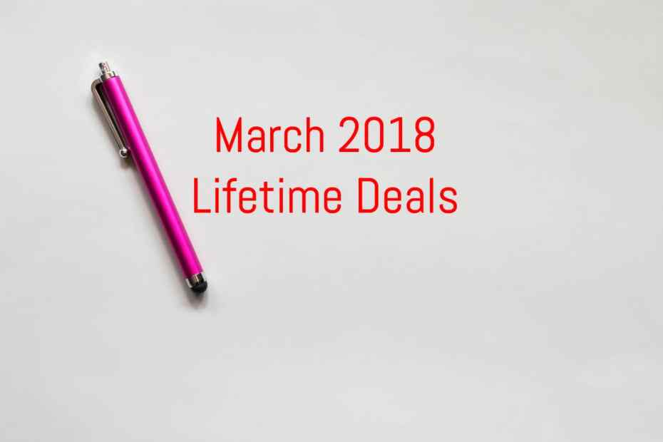 March 2018 Lifetime Deals