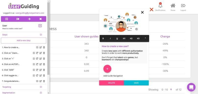 UserGuiding Review: Affordable and Easy User Onboarding