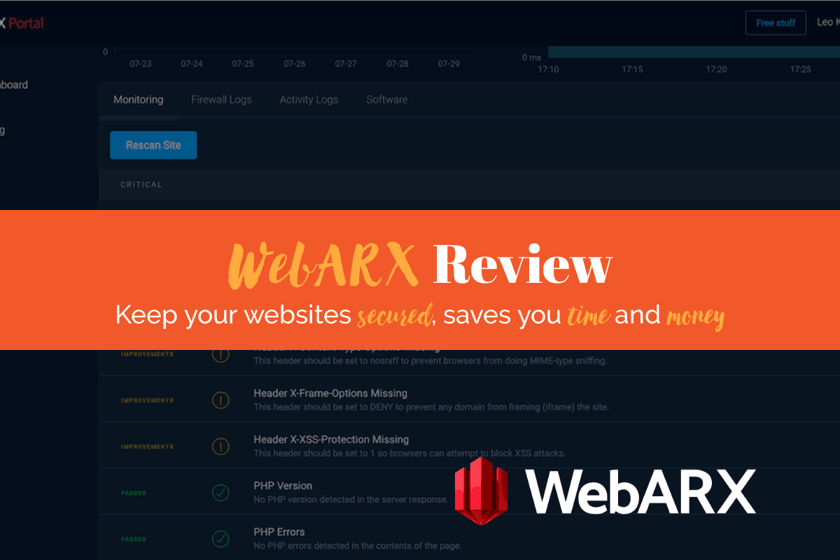 WebARX Review: Keep Websites Secured