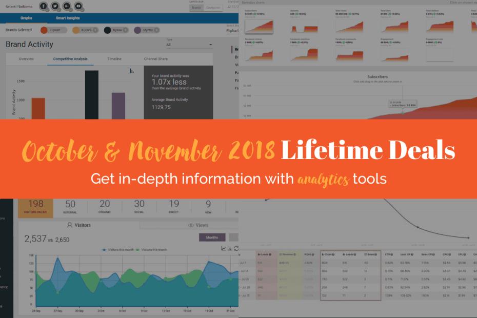 October and November 2018 Lifetime Deals