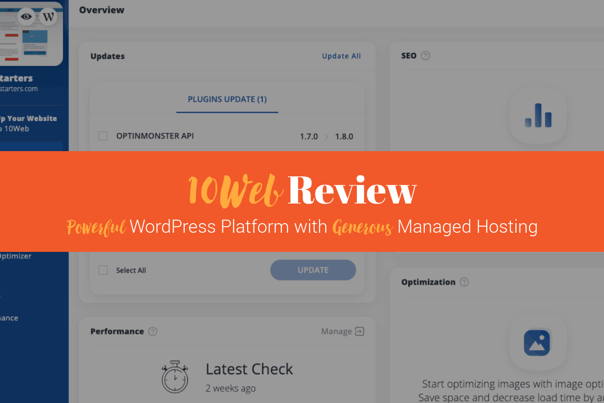 10Web Review: WordPress Platform + Managed WordPress Google Cloud Hosting