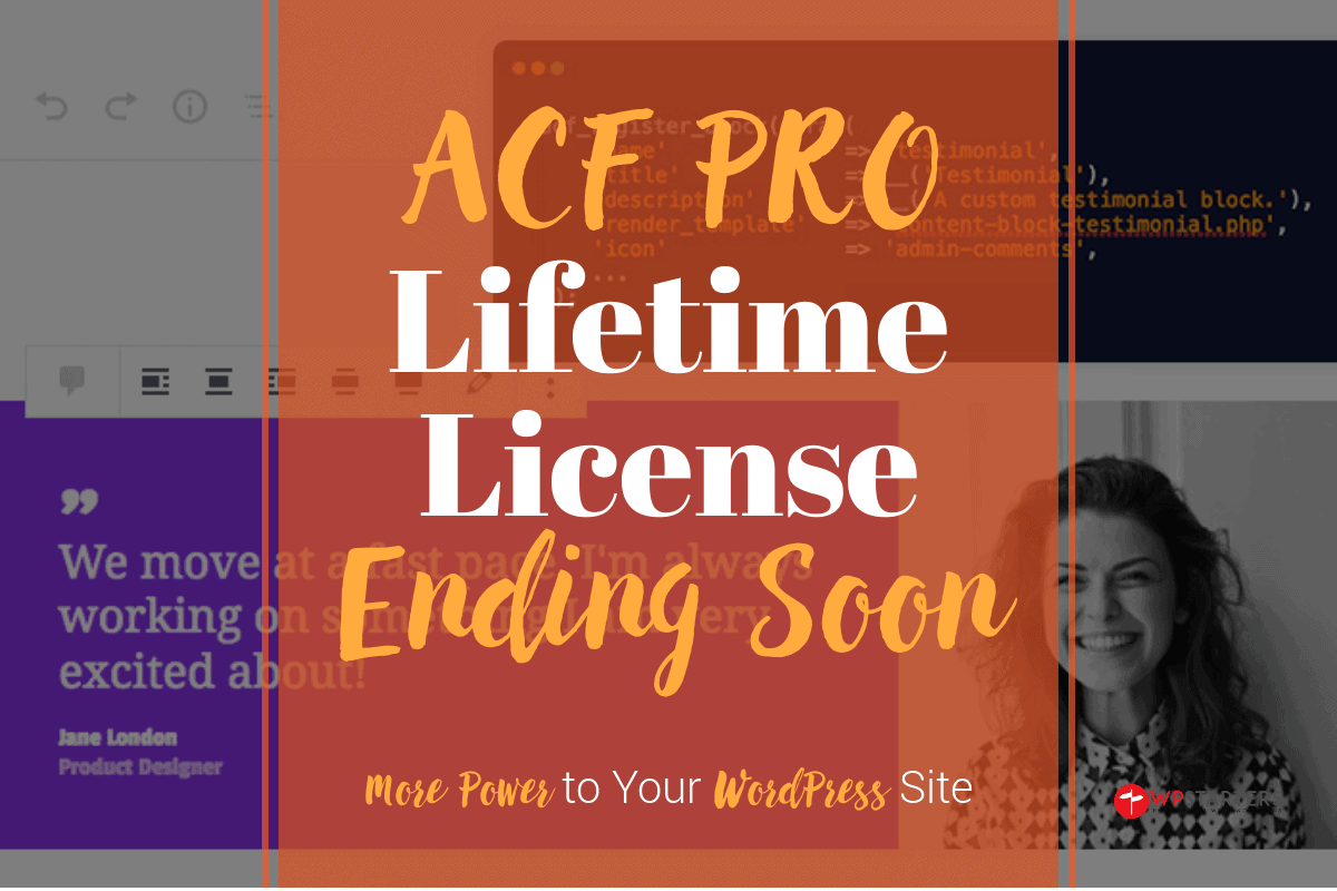 ACF Lifetime License Ending Soon