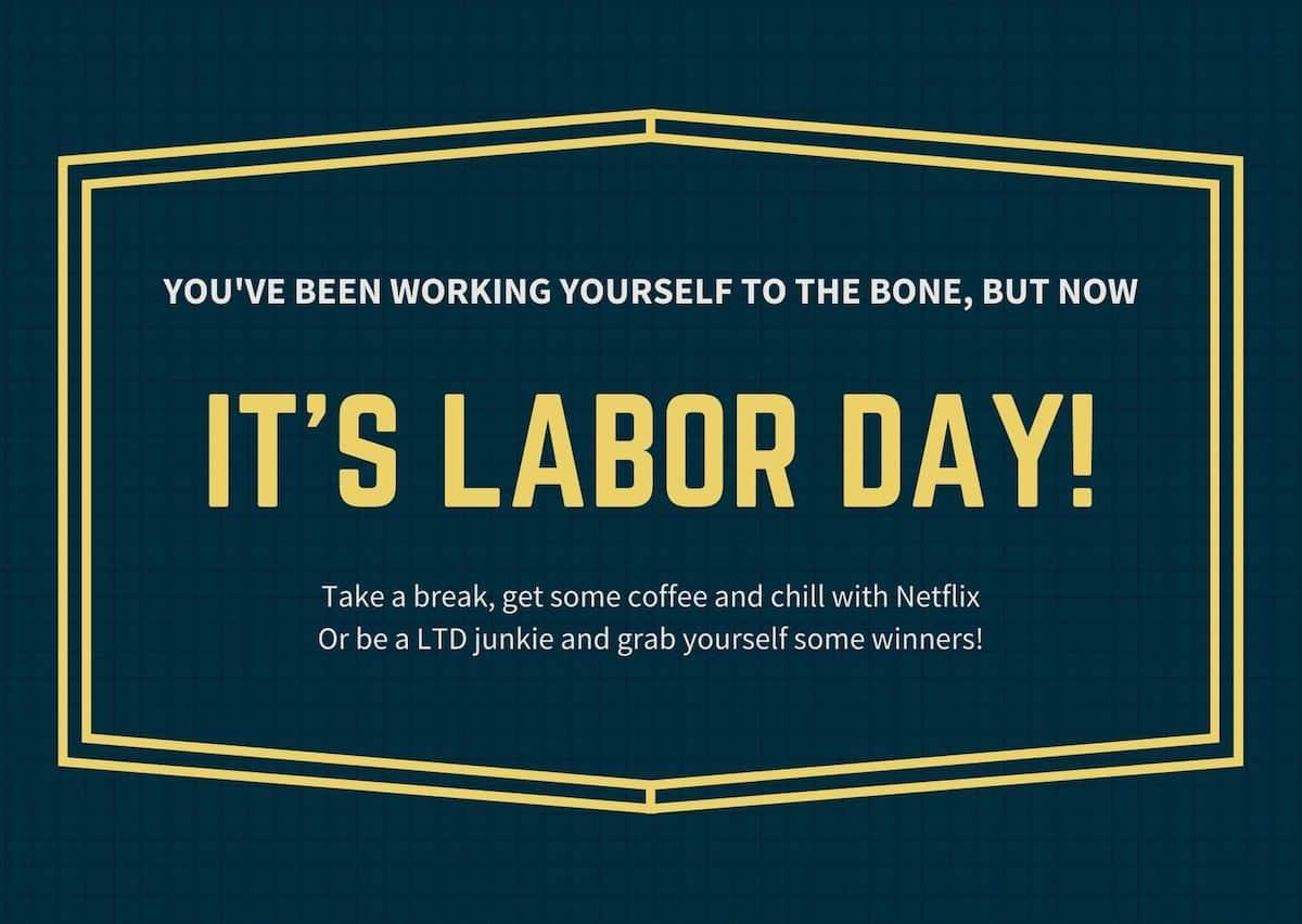 Happy Labor Day 2020!