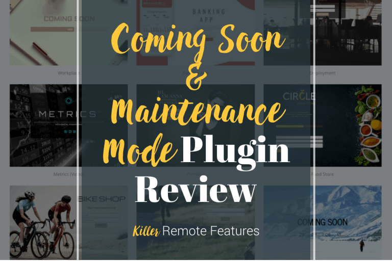 Coming Soon & Maintenance Mode Plugin Review
