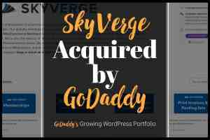 skyverge acquired by godaddy hosting