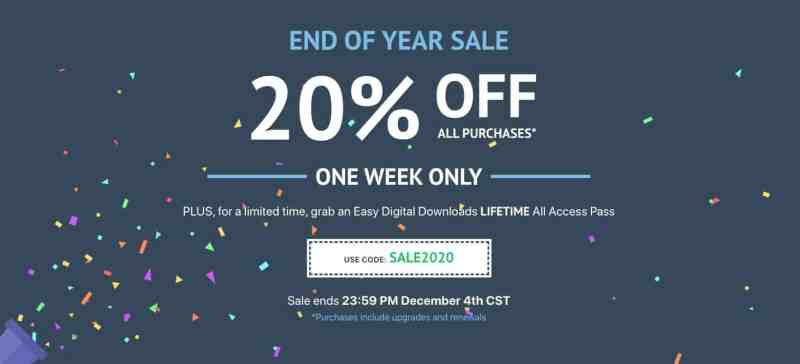 easy digital downloads lifetime all access pass is back on lifetime for black friday cyber monday 2020