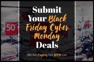 submit your black friday cyber monday deals