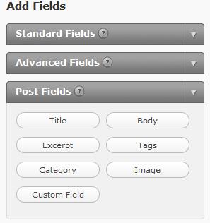 GravityForms Fields