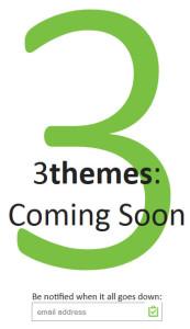 3 themes splash page