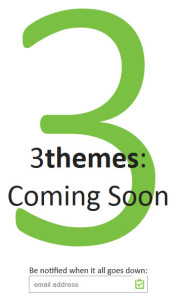 3 themes splash page
