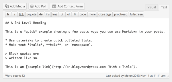 WordPress com Adds Support For Markdown: Is TinyMCE On Its Way Out