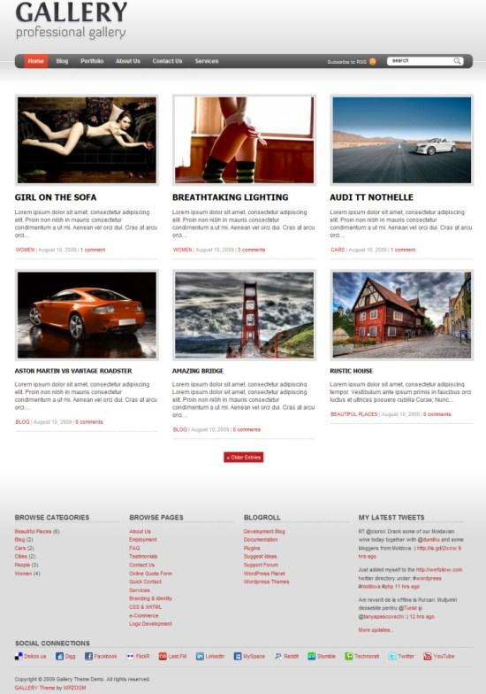 gallery-wordpress-theme