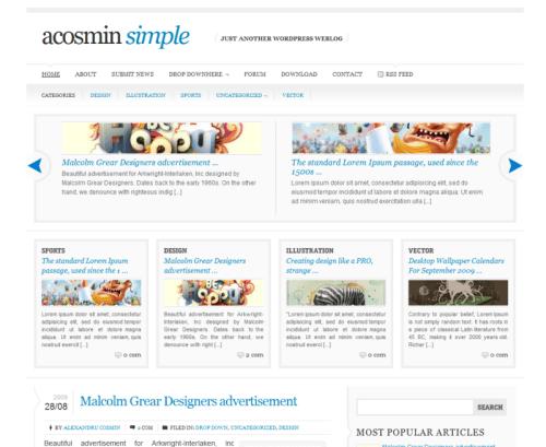 acosmin-simple-wordpress-theme