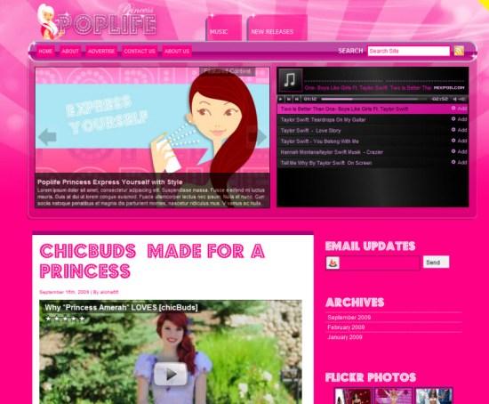 PopLife-Princess-WordPress-Theme