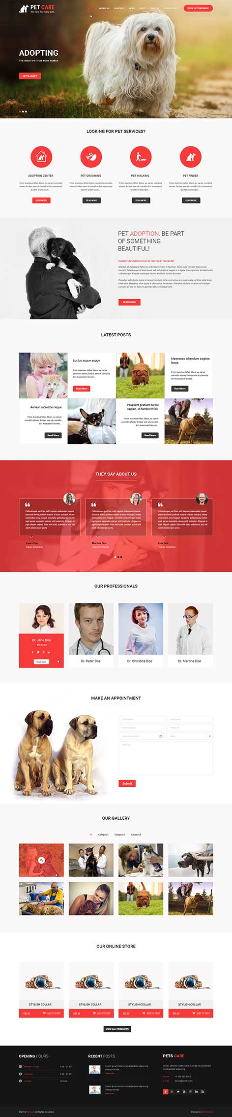 veterinary WordPress theme