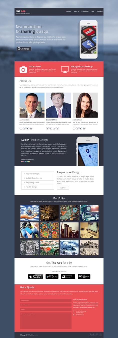 app maker WordPress theme