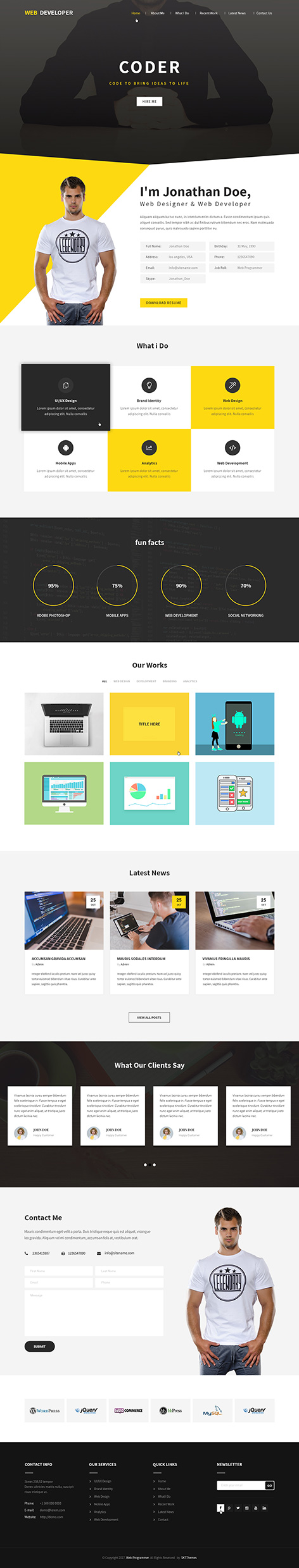 web coder WordPress theme