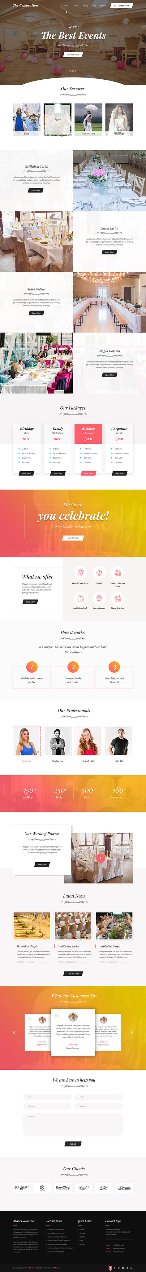 marriage hall WordPress theme
