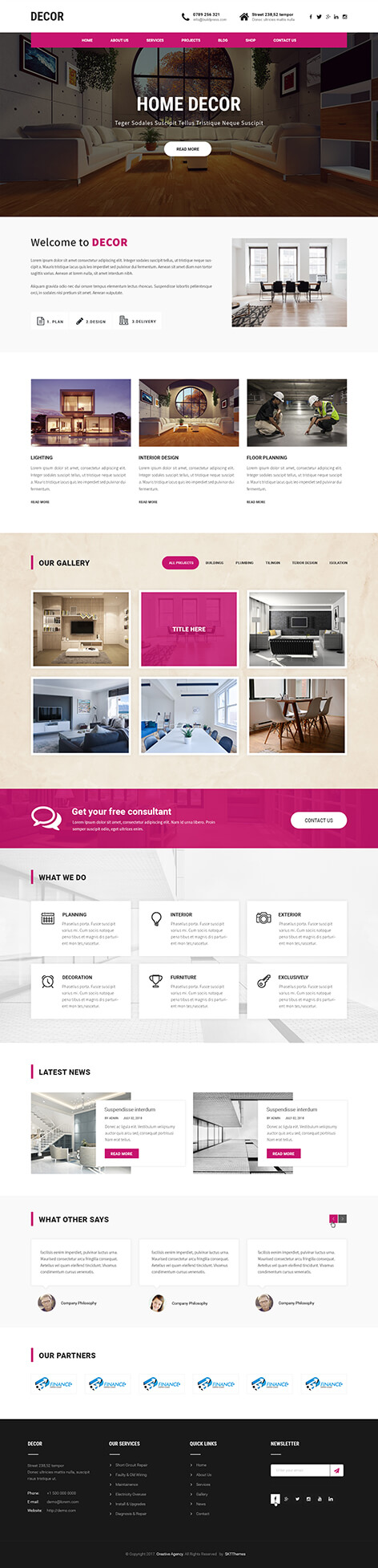 decor WordPress theme
