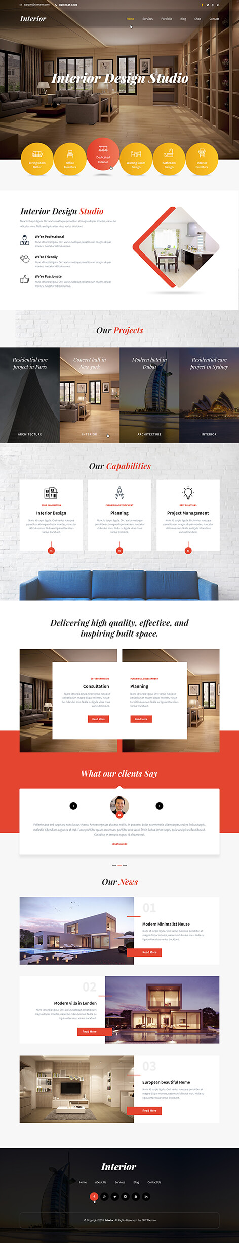home staging WordPress theme