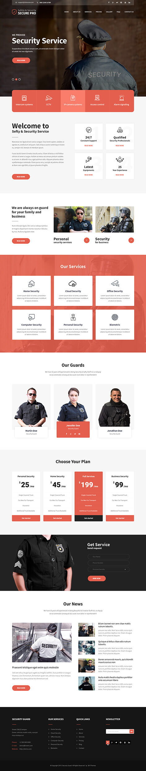 security guard WordPress theme