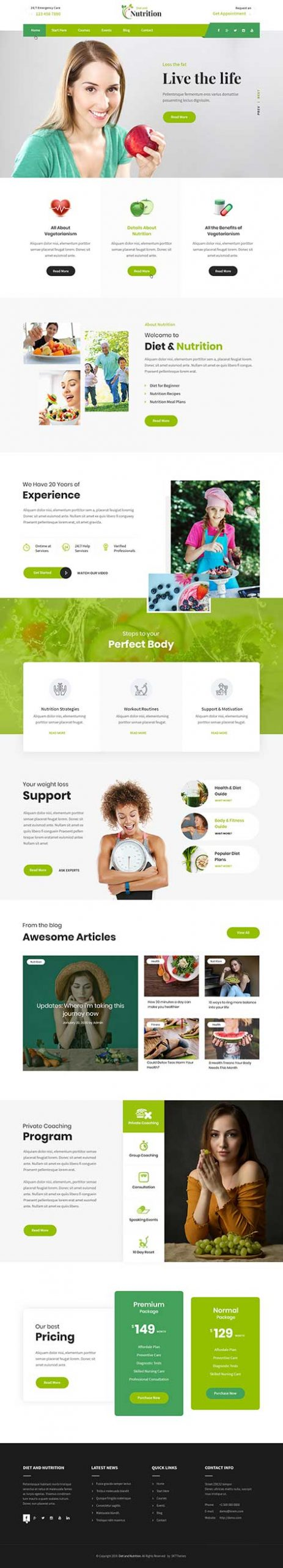 dietitian WordPress theme
