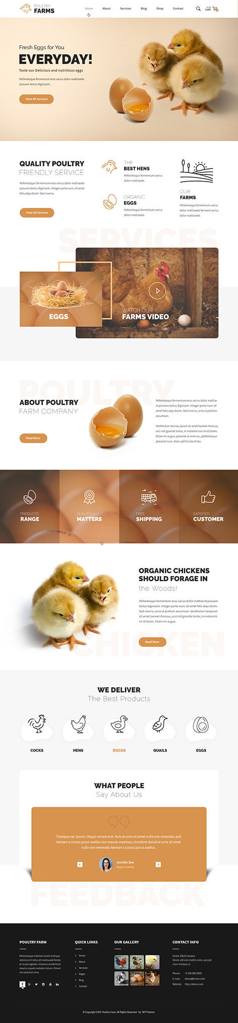 Poultry & Crow Farm WordPress Theme
