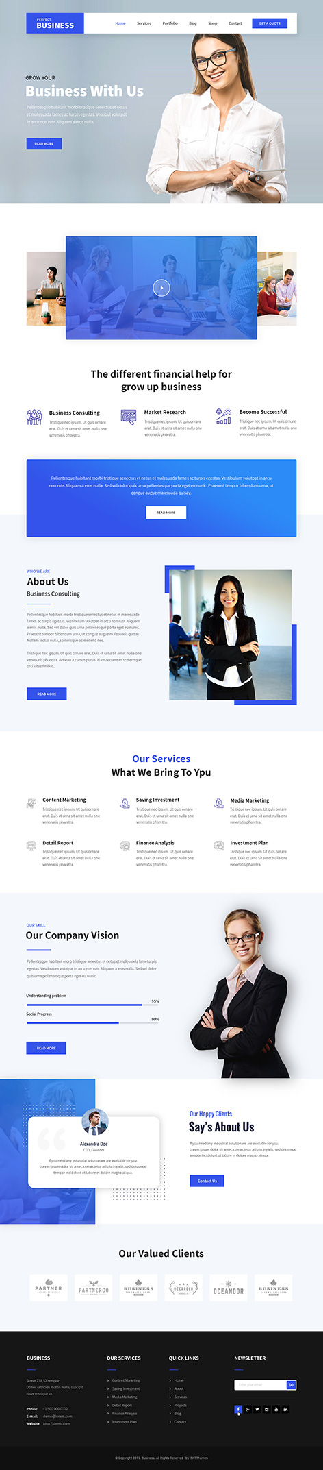 services WordPress theme
