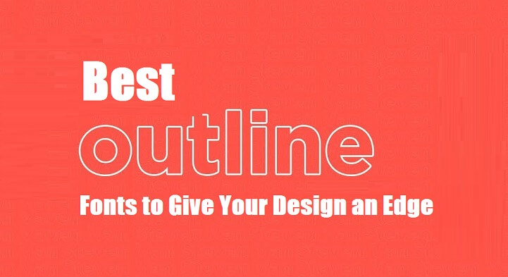 best outline Fonts