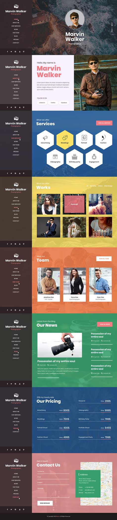 marvin WordPress theme