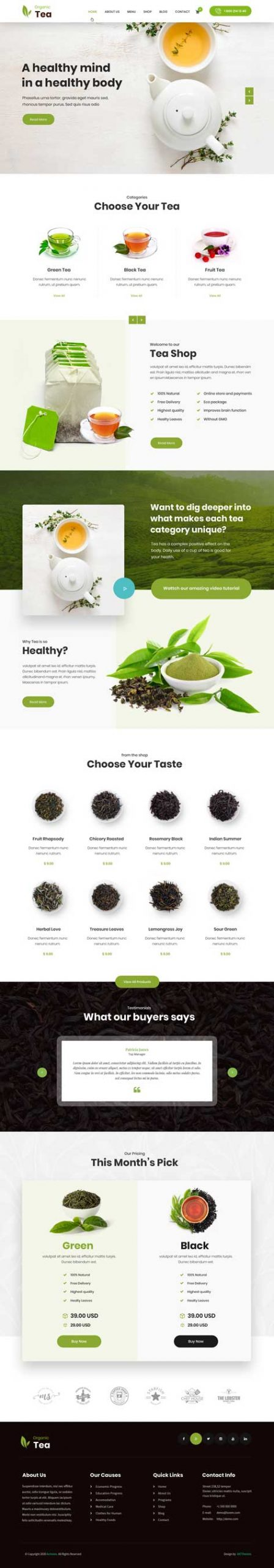 green tea WordPress theme