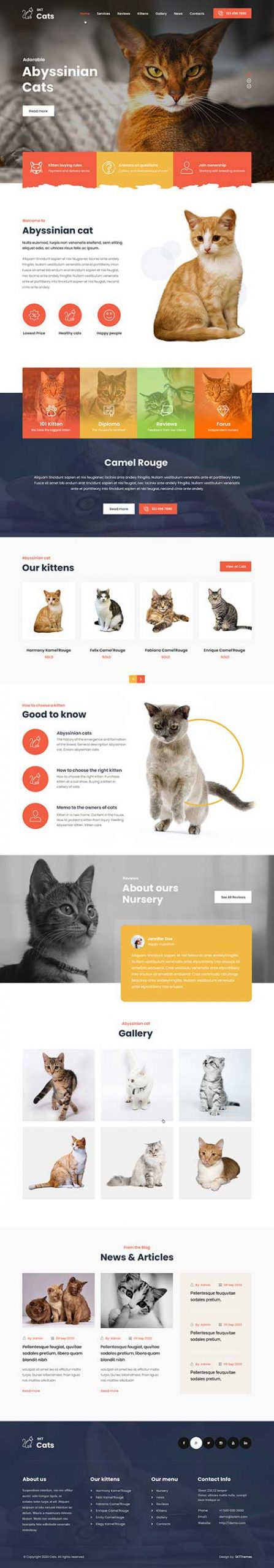 pet animals WordPress theme
