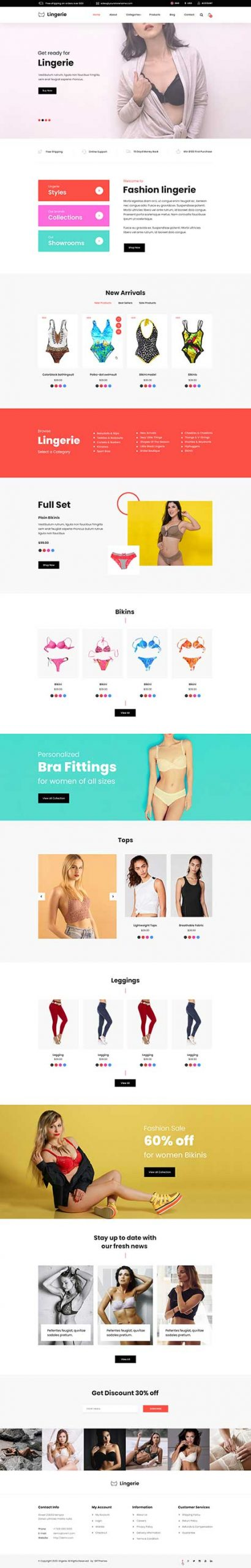 underwear WordPress theme
