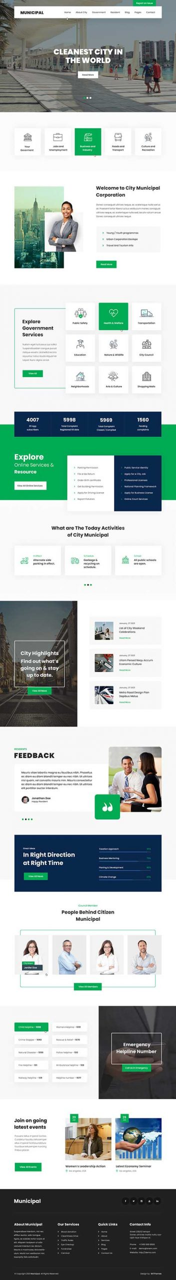 municipality WordPress theme