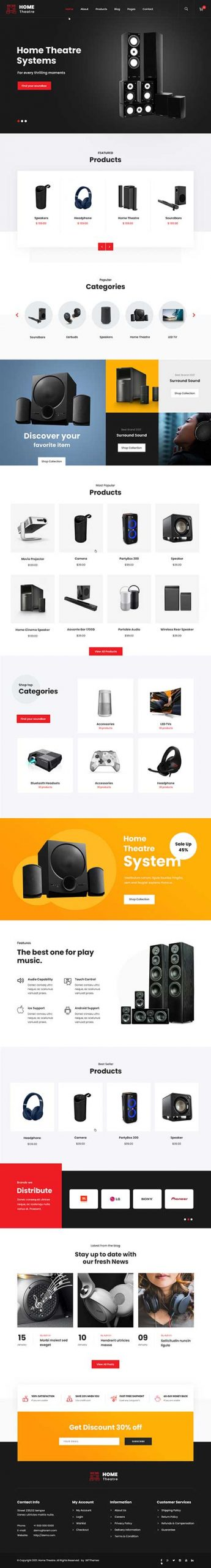 musical instruments WordPress theme