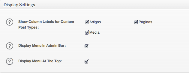 All In One SEO - Widget Options
