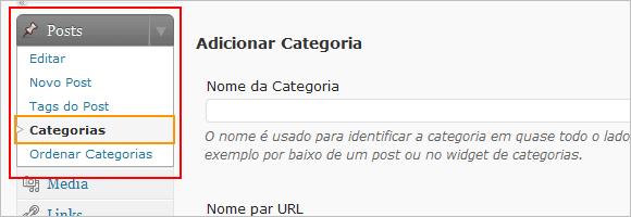Categorias WordPress