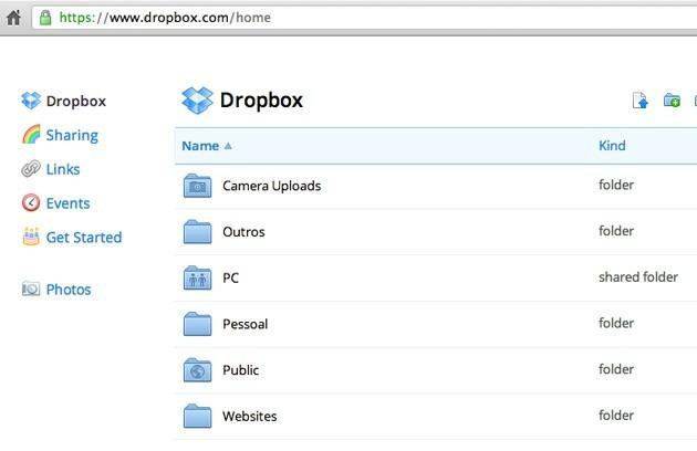 Dropbox Website