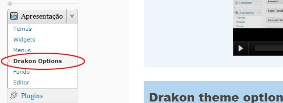 Drakon WordPress Theme Opções