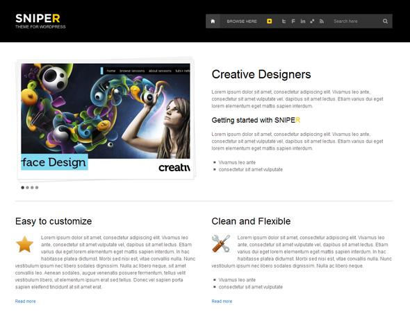 SNIPER - Corporate WordPress Theme