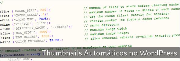 Thumbnails Automáticos no WordPress