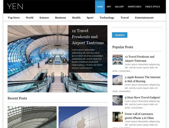 YEN - Magazine, News and Blog WordPress Template