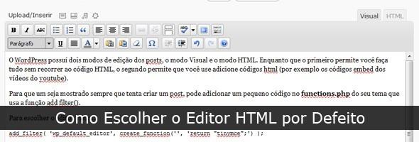 Como Escolher o Editor HTML por defeito
