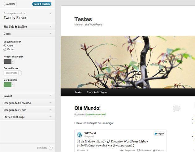 WordPress 3.4 - Personalização de Temas
