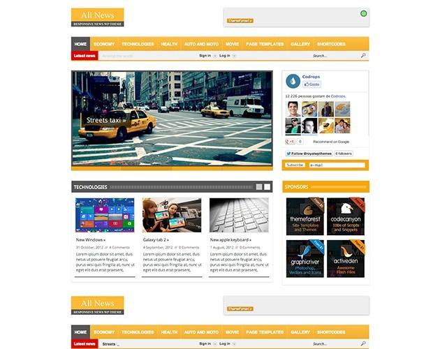 All News - Responsive WordPress News