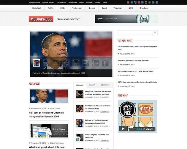 Mediapress Ultimate WordPress News/Magazine Theme