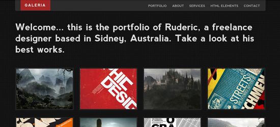 Galeria - Single Page WordPress Portfolio