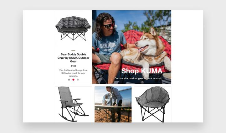 Airstream Supply company site with photos of products in action