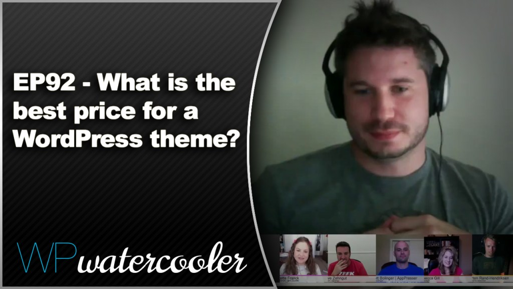 EP92 What is the best price for a WordPress theme June 23 2014 WPwatercooler