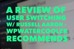 A review of user switching - wordpress plugin 1